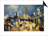 Riverfront Poster by George Bellows