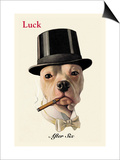 Dog in Top Hat Smoking a Cigar Posters