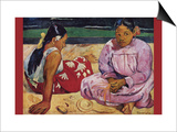 Tahitian Women on Beach Art by Paul Gauguin