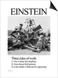 Einstein; Three Rules of Work Prints by Wilbur Pierce