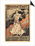 Sara Bernhardt as Joan of Arc Prints by Alphonse Mucha