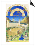 Le Tres Riches Heures Du Duc De Berry - July Prints by Paul Herman & Jean Limbourg