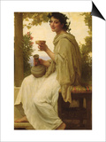Bacchante Print by William Adolphe Bouguereau