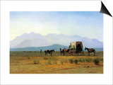 The Stagecoach in the Rockies Posters by Albert Bierstadt