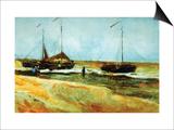 Strand in Scheveningen bei ruhigem Wetter Kunst von Vincent van Gogh