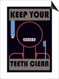 Keep Your Teeth Clean Prints