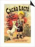 Cacao Lacte de Ch. Gravier Superieur Posters