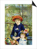 On The Terrace Print by Pierre-Auguste Renoir