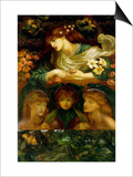 The Blessed Damozel Print by Dante Gabriel Rossetti