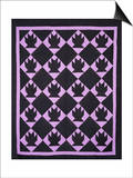 An Amish Pieced & Quilted Cotton Coverlet, Indiana or Ohio, circa 1910 Poster