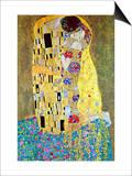 Gustav Klimt - Polibek Reprodukce