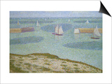 Port-En-Bessin, Entrance to the Harbor Prints by Georges Seurat