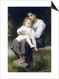 Big Sis Prints by William Adolphe Bouguereau