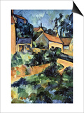 Road Curve In Montgerout Prints by Paul Cézanne