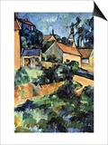 Road Curve In Montgerout Prints by Paul Cézanne