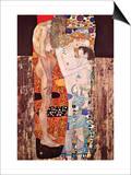 Las tres edades de la mujer Láminas por Gustav Klimt