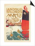 Landsud Stillingen Aarhus Prints by Valdemar Andersen