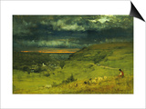 Sunset at et retat Posters by George Inness