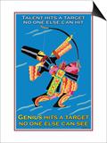 Genius Hits a Target Prints