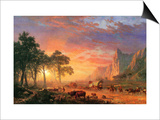 The Oregon Trail Art by Albert Bierstadt