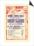 Concert at the Monte Carlo Casino Prints by Alphonse Mucha