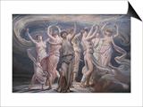 The Pleiades - Seven Sisters Poster von Elihu Vedder