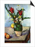 The Vase of Tulips, c. 1890 Poster by Paul Cézanne