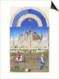 Le Tres Riches Heures Du Duc De Berry - October Art by Paul Herman & Jean Limbourg