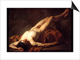Male Nude; Hector Art by Jacques-Louis David