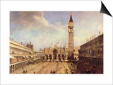 Piazza San Marco Poster af Canaletto
