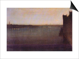Nocturne In Gray and Gold, Westminster Bridge Prints by James Abbott McNeill Whistler