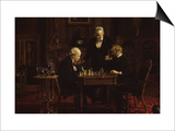 The Chess Players Prints by Thomas Cowperthwait Eakins