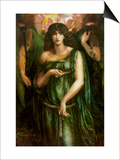 Syrian Astarte Pictured in a Trinity Posters by Dante Gabriel Rossetti