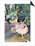 Dancer with a Bouquet of Flowers (The Star of the Ballet) Posters by Edgar Degas