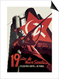 Nineteen Years of the Soviet Union and the Fight for Freedom and World Peace Art by Josep Renau Montoro