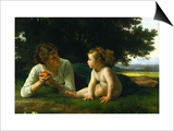 Temptation Poster by William Adolphe Bouguereau
