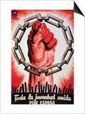 All the Youth United for Spain. Prints by  United Socialist Youth