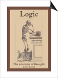 Logic, The Anatomy of Thought Print by John Locke