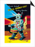 Musical Drummer Robot Prints