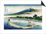 Shore of Tago Bay, Ejiri at Tokaido Prints by Katsushika Hokusai