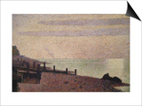 Evening, Honfleur Print by Georges Seurat