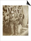 Isambard Kingdom Brunel (1806-1859) at Millwall, Leaning Against a Chain Drum, November 1857 Poster by Robert Howlett