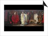 King Lear, Act 1 Scene 1 Print by Edwin Austin Abbey