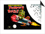 Mechanical Jumping Rocket Poster