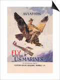 Fly with the U.S. Marines Prints by Howard Chandler Christy