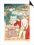 Vernet-les-Bains: Pyrenees Orientales, c.1896 Art by Théophile Alexandre Steinlen