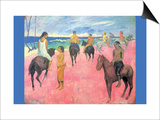 Riding on the Beach Posters by Paul Gauguin