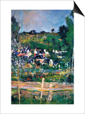 Village Behind The Fence Poster by Paul Cézanne