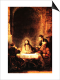 Christ in Emmaus Posters by  Rembrandt van Rijn