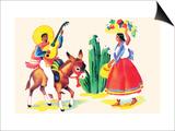 Burro Rider Serenades La Senorita Posters